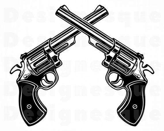 Gun Logo #3 Svg, Revolver SVG, Gun SVG, Pistol SVG, Weapon Svg, Revolver  Clipart, Gun Files for Cricut, Cut Files For Silhouette, Dxf, Png.