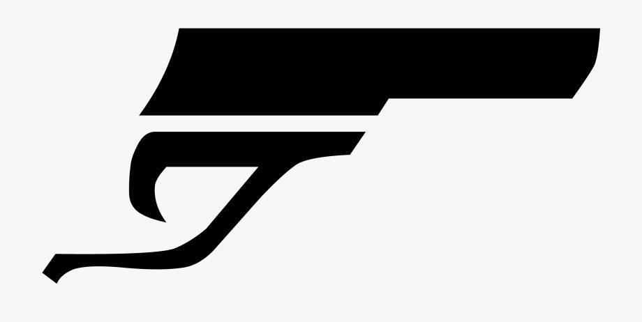 Banner Transparent James Bond Gun Png.