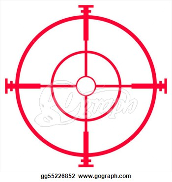 Rifle scope clipart.