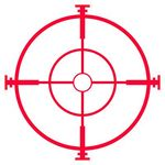Stock Illustration of Sniper rifle sight or scope.