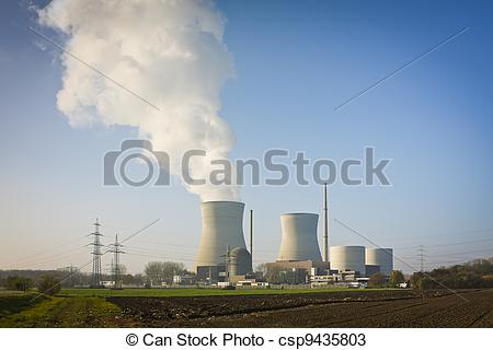 Stock Photos of nuclear power plant Gundremmingen.