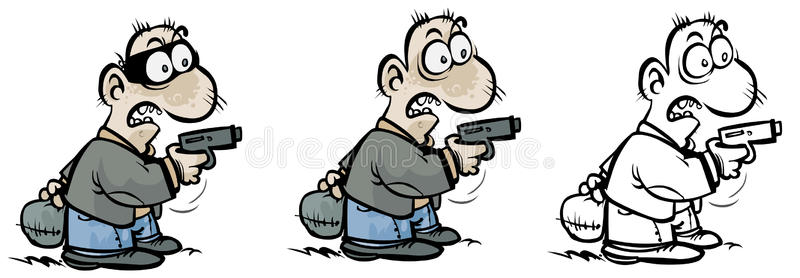 Cartoon Gunman Stock Illustrations.