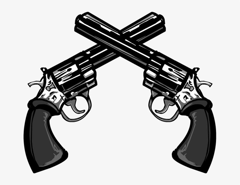 Download Free png Crossed Guns Png Double Gun Png Transparent PNG.