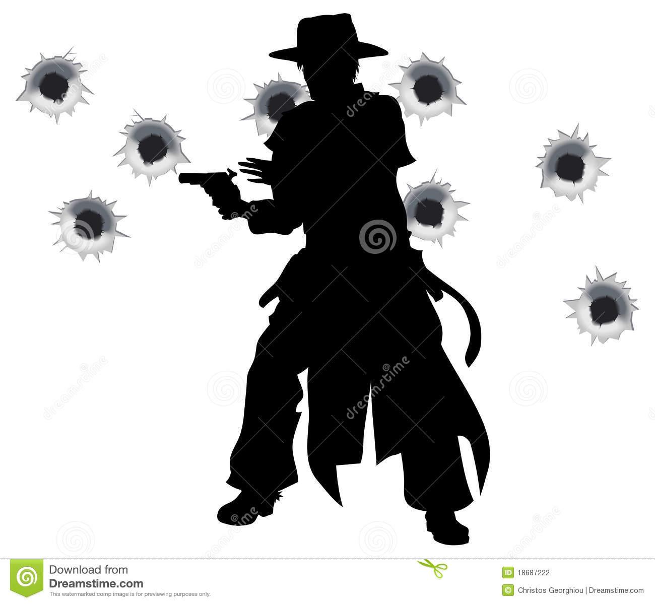 Gunslinger Stock Illustrations.