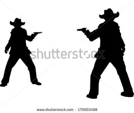 Gunslinger Stock Images, Royalty.