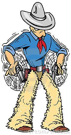 Old West Gunslinger Stock Illustrations.