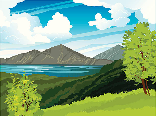 Gunung Batur Clip Art, Vector Images & Illustrations.