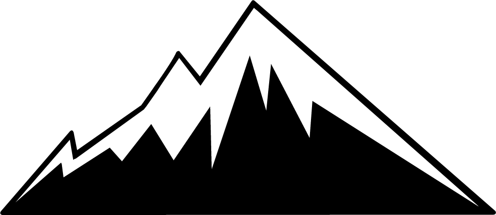 Mountain outline clip art.