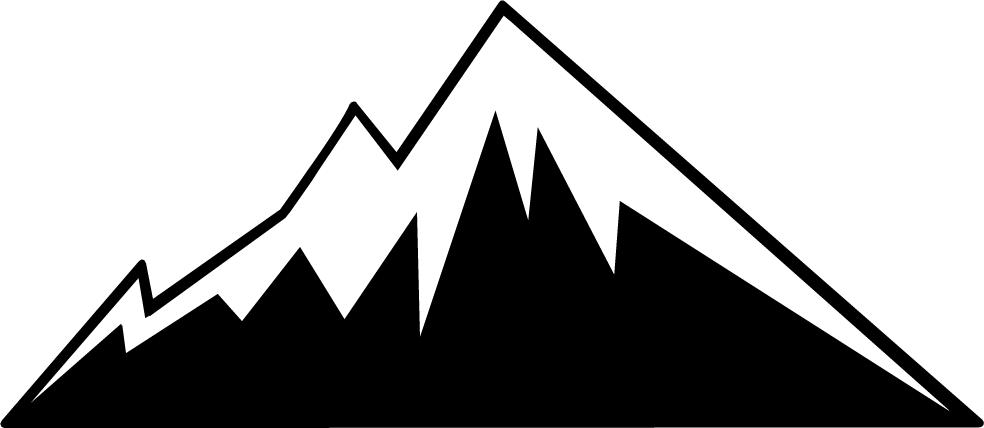 Mountain outline clip art.