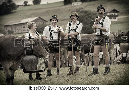 """Picture of """"Shepherds during the Viehscheid cattle drive."""