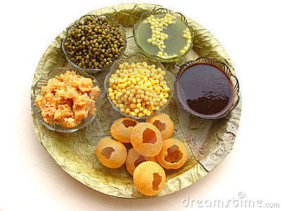 Indian Food Pani Puri Royalty Free Stock Image.