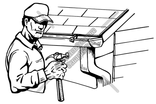 Cartoon Roofing Installation : Roof gutters clipart clipground
