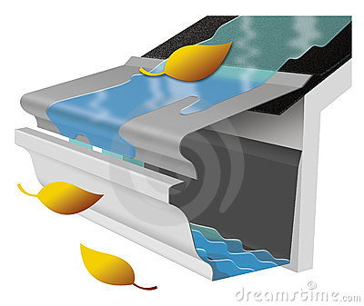 Roof gutters clipart -...