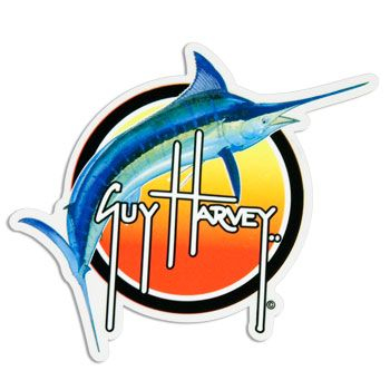 Guy Harvey Sunset Marlin Sticker Decal #guyharvey in 2019.