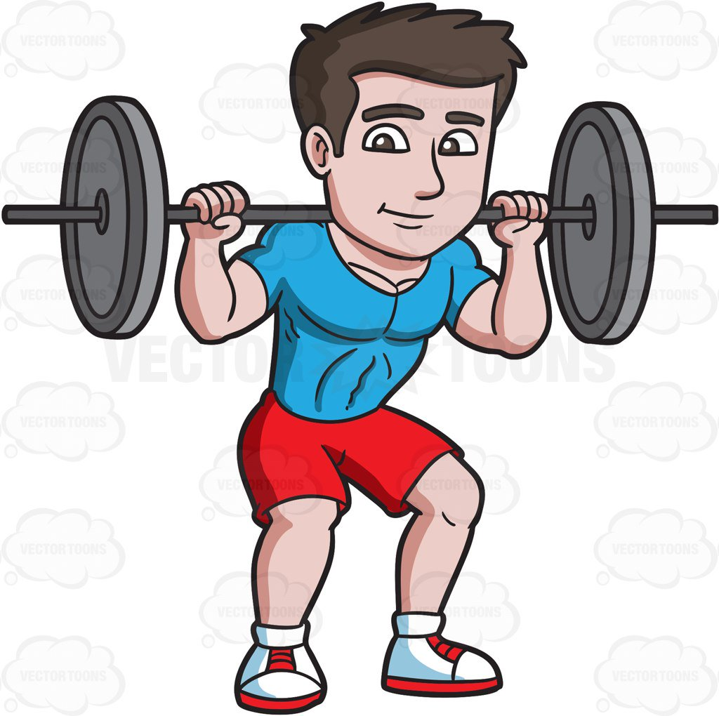 Man lifting weights clipart » Clipart Station.