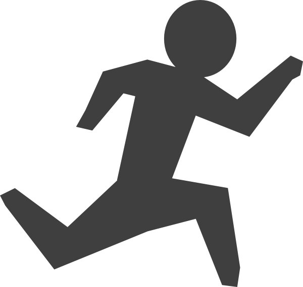 Gray Man Running Clip Art at Clker.com.