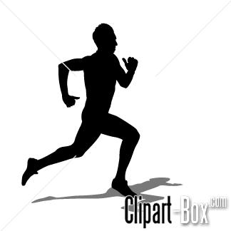 Business man running free clipart.