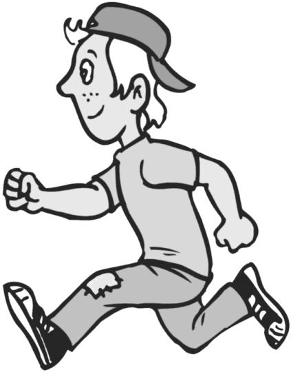 Boy Running Clipart.