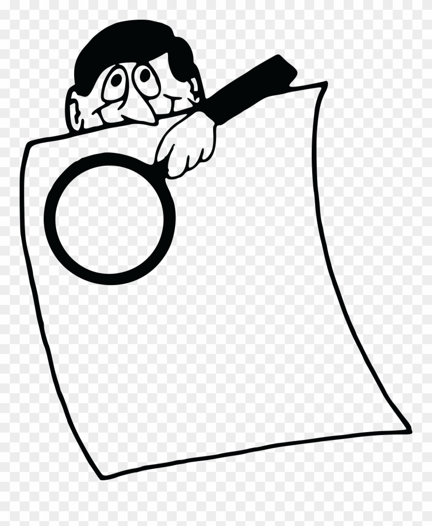 Free Clipart Of A Man With A Magnifying Glass Over.