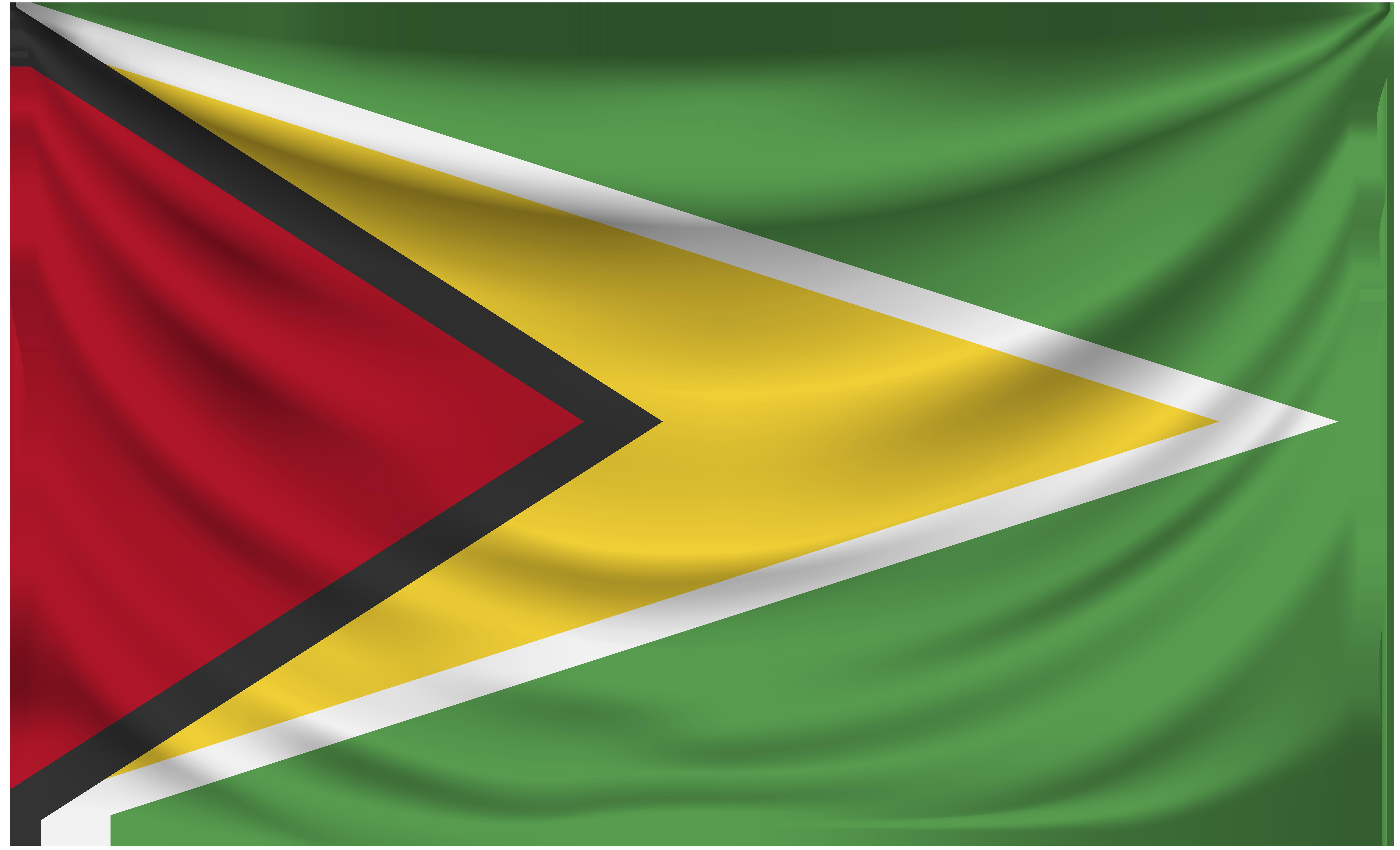Guyana Wrinkled Flag.