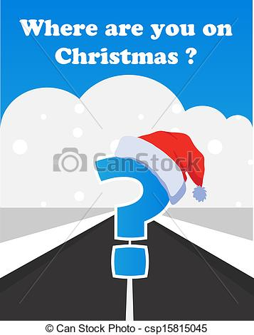EPS Vector of where will you spend your christmas holidays.