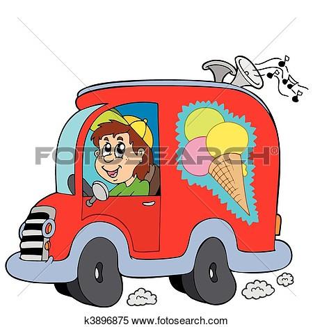 Ice On Car Clipart.