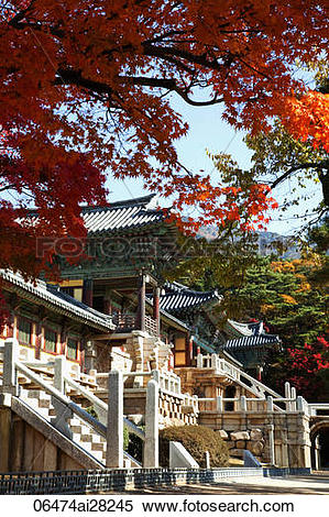 Stock Image of Korea,Gyeongju,Bulguksa Temple 06474ai28245.