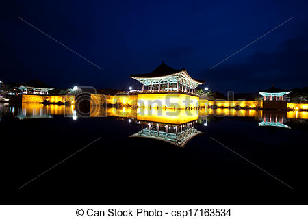 Stock Photos of Beautiful night view in South Korea,Gyeongju.
