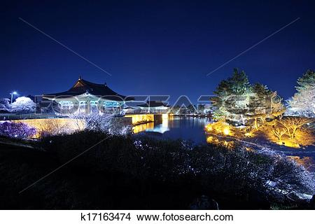 Stock Photo of Beautiful night view in South Korea,Gyeongju.