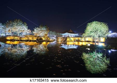 Stock Image of Beautiful night view in South Korea,Gyeongju.