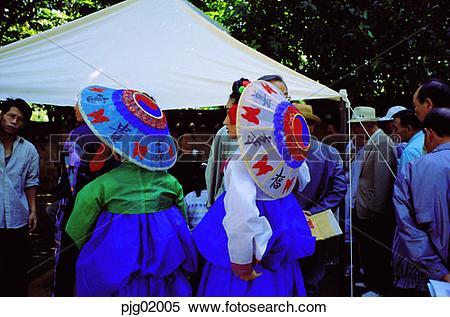 Stock Image of Koreaethnic customs town, ethnic customs town.