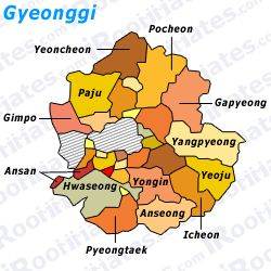 Roommates and rooms for rent in Gyeonggi South Korea..