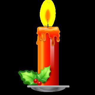 PNG gyertyák tubus (dekorációk).