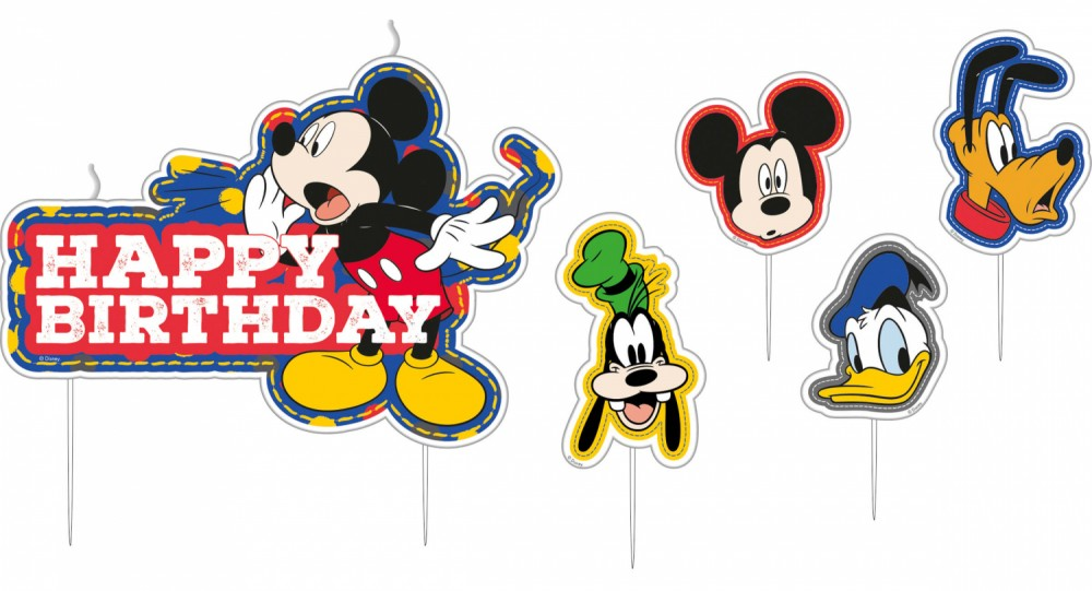 Disney Mickey Cake Candles, Candle set (5 pieces).