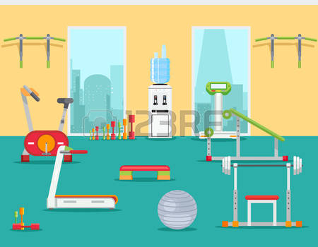 Gym Room Clipart.