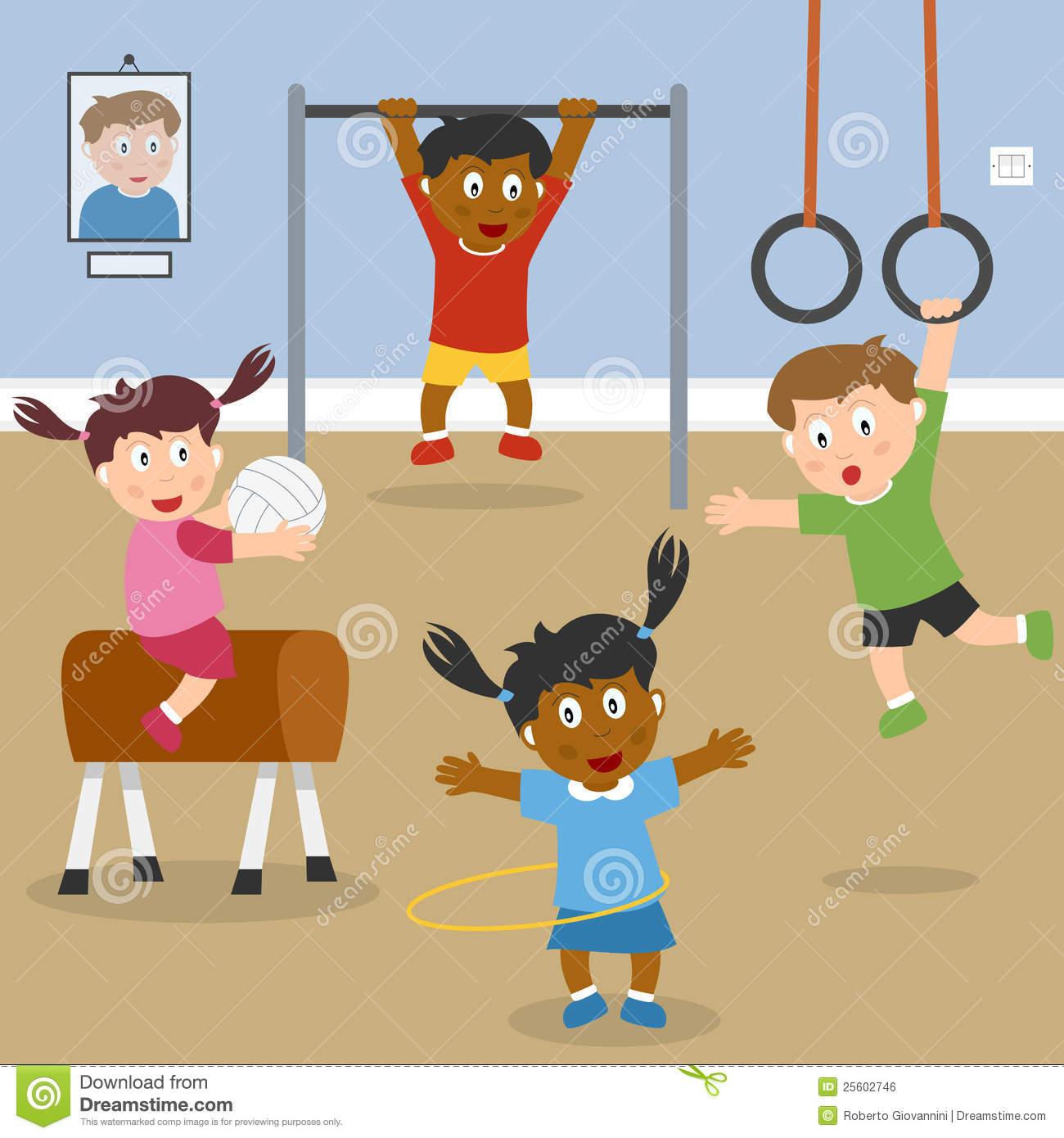 Gym Stock Illustrations.