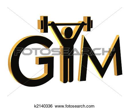 Stock Illustration of Gym Fitness Logo 3D k2140336.