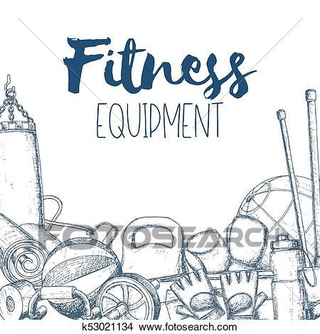 Home gym equipment Clipart.