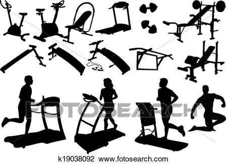 Gym equipment, made in the image vectors Clipart.