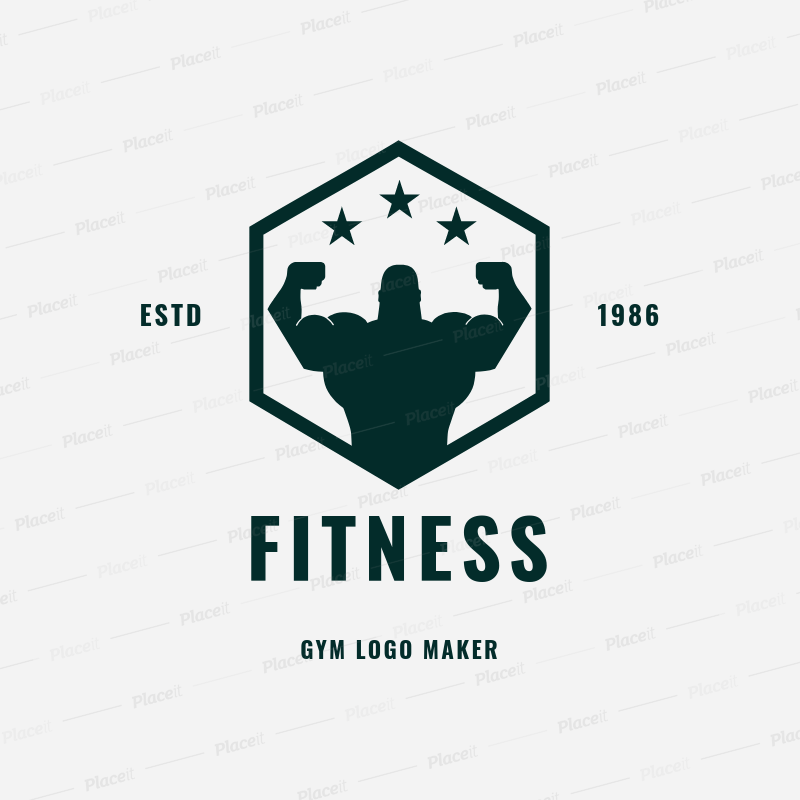 Gym Logo Maker for Fitness Centers 1272.