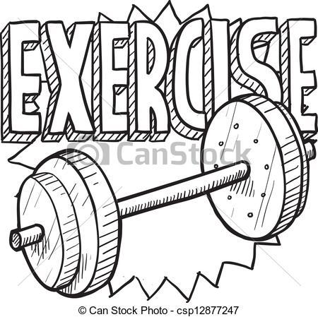 Weight workout sketch.