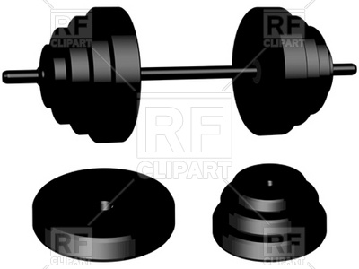 Gym weights Vector Image.