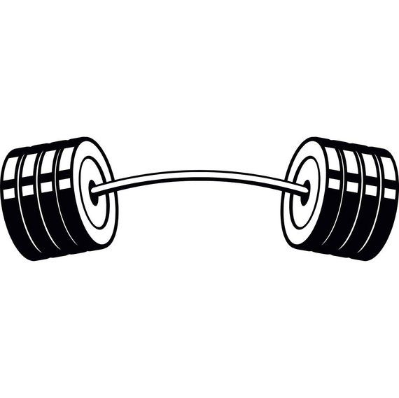 Barbell #4 Curved Bar Weightlifting Bodybuilding Fitness Workout Gym.