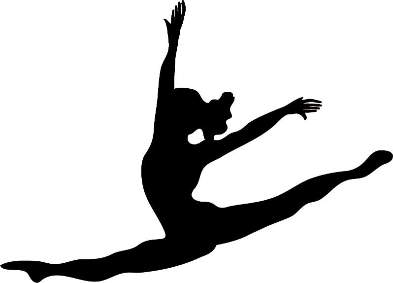 Gymnastics clipart splits.