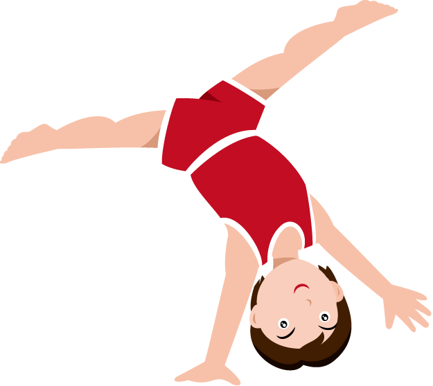 Gymnastics Clipart Black And White.