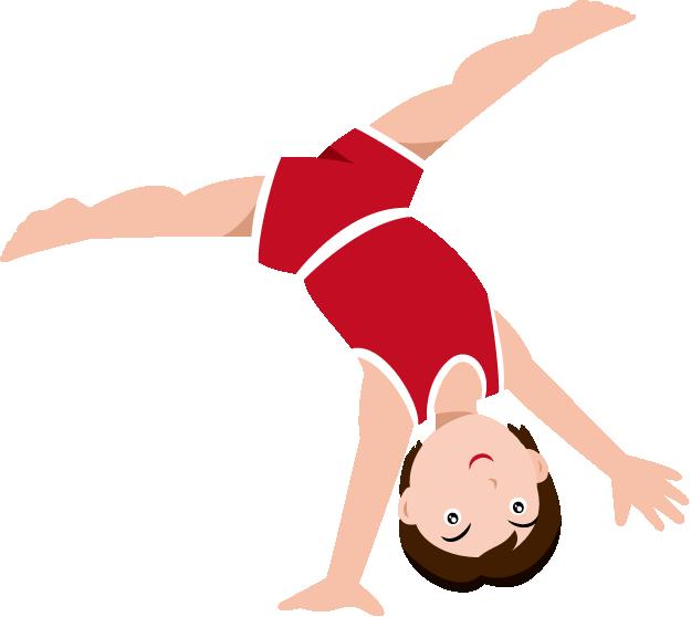 Gymnastics Clipart Black And White.