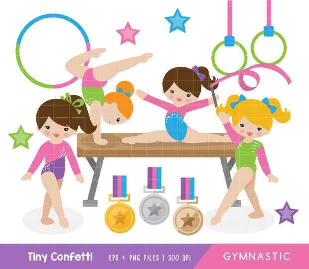 Gymnastic clip art.