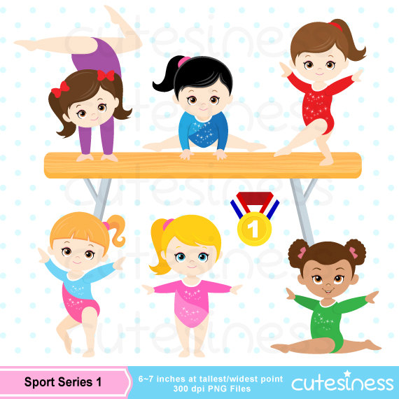 Gymnastic Clipart, Gymnastic Clip Art, Gymnastic Girl Clipart.