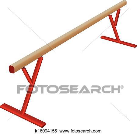 Athletic balance beam Clipart.
