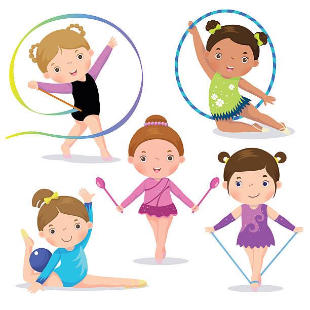 Best Rhythmic Gymnastics Illustrations, Royalty.